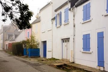 Photo sur Toile Chypre Belle-Ile (Bretagne) : rue du village de Locmaria