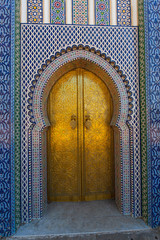 Gate of the Dar el Makhzen - The Royal Palace at Fes, Morocco