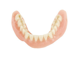 lower denture on a white background