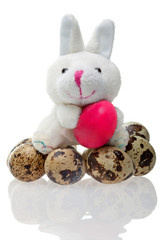 Funny rabbit with easter egg