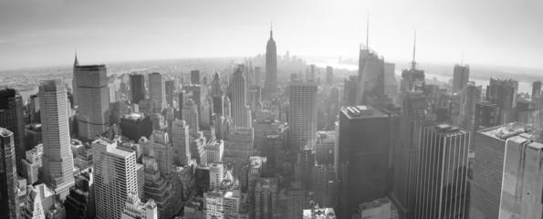 Fototapete - New York City skyline black and white