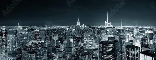 Fototapete New York City Manhattan skyline at night
