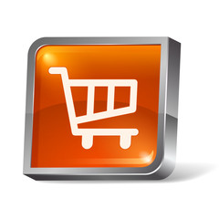 3d web icon shopping cart