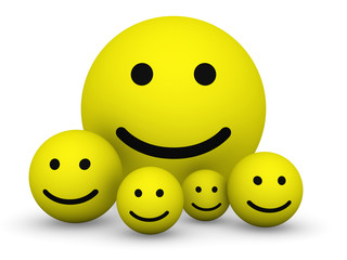 Yellow smiley balls