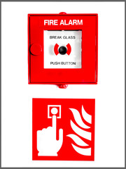 Fire Alarm Button And Sign