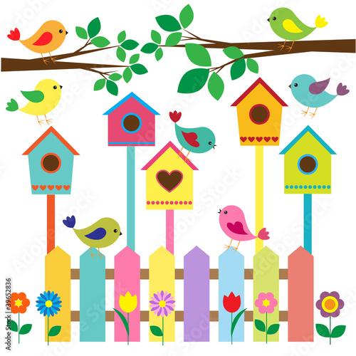 Birdhouses imagens e vetores de stock royalty free no for Caja de colores jardin infantil