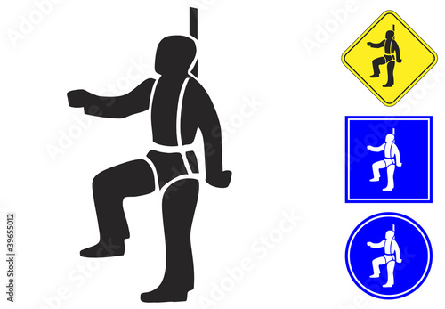 Safety Harness Pictogram And Signs Stock Image And Royalty Free