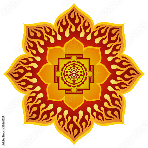 Lotus Sri Yantra Design