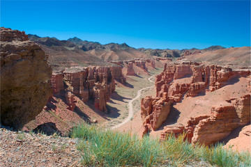 canyon  landscape in Central Asia