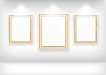 Empty frame on wall in gallerys