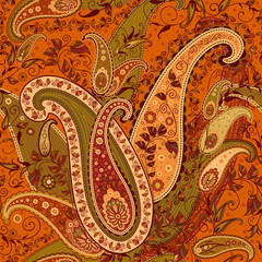 Seamless Elaborate Paisley Pattern