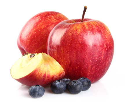 Apple with blueberry