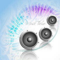 Vector colorful music style