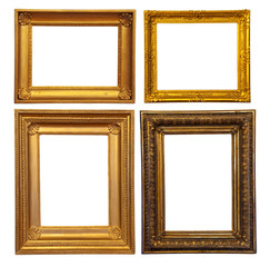 Set of few old bronze frames