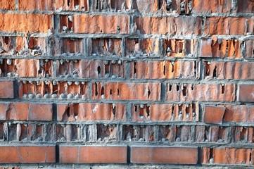 An old brick wall. Texture.