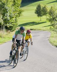 Radfahren in idyllischer Umgebung