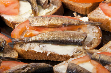 Fresh, delicious sandwiches with fish
