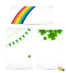 Set of Patrick's Day Templates