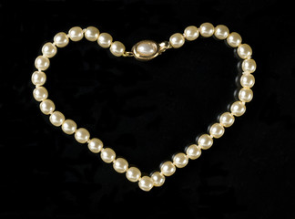 Love shaped pearls