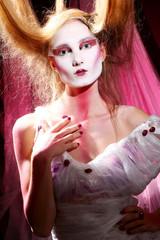 Fashion model in stylish asian image