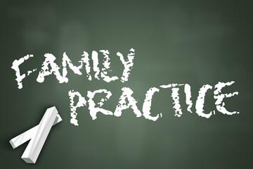 "Chalkboard ""Family Practice"""