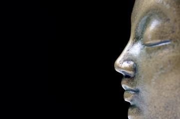 Buddha isolated profile
