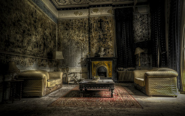 Wall Mural - abandoned living room
