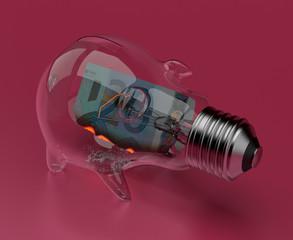 Ampoule-tirelire-euro-pink
