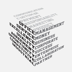 Business terms typography