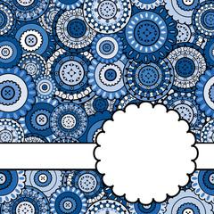 Blue ornamental card
