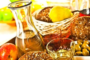 Landwein und  Mahlzeit - Vin du pays