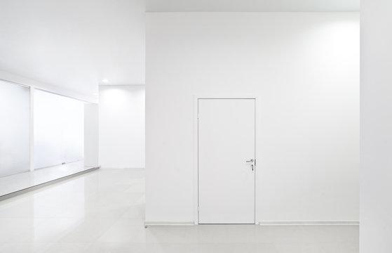 Empty new white interior