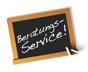 Beratungs-Service! Button, Icon