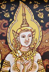 Art Thai painting on windows