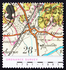 Postage stamp GB 1991 Map of Village of Hamstreet, Kent