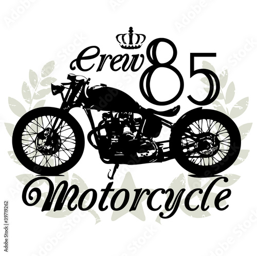 Wall mural Motorcycle crew