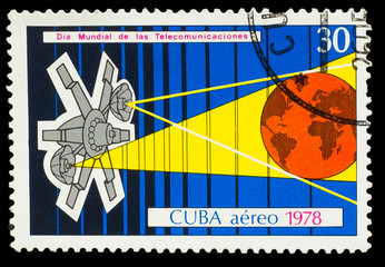 CUBA - CIRCA 1978: A stamp printed in CUBA, Intercosmos program
