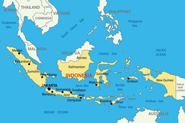 Republic of Indonesia - vector map
