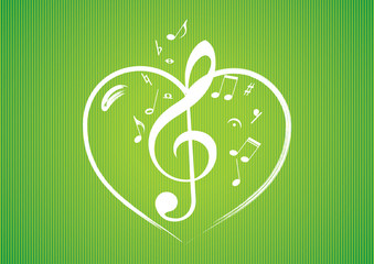 Heart rom musical notes
