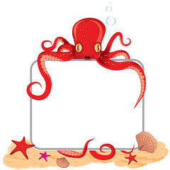 Octopus holding a empty board