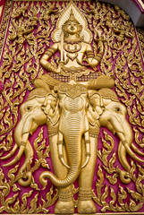 Buddha carved