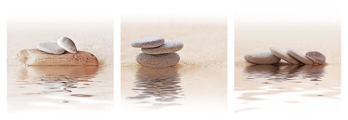 Triptyque galets zen