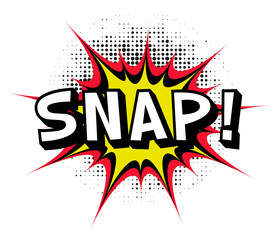 Snap. Comic book explosion.Vector illustration.