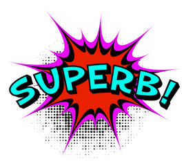 Superb. Comic book explosion.Vector illustration.