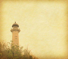 Grunge background of lighthouse