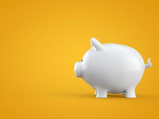 Sparschwein auf gelbem Hintergrund