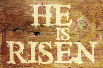 He Is Risen Religious Background