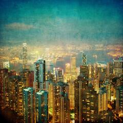 vintage image of hong kong