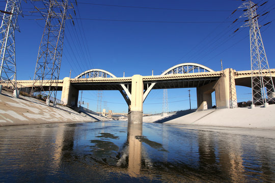Sixth Street Viaduct from Los Angeles River