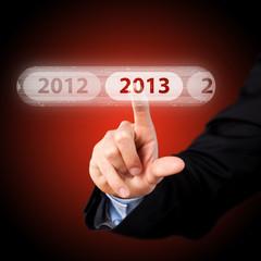 Finger drückt 2013-Button